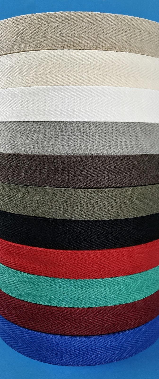 Cinta de algodón de espiga cinta 30mm Ancho-Natural-Por Metro