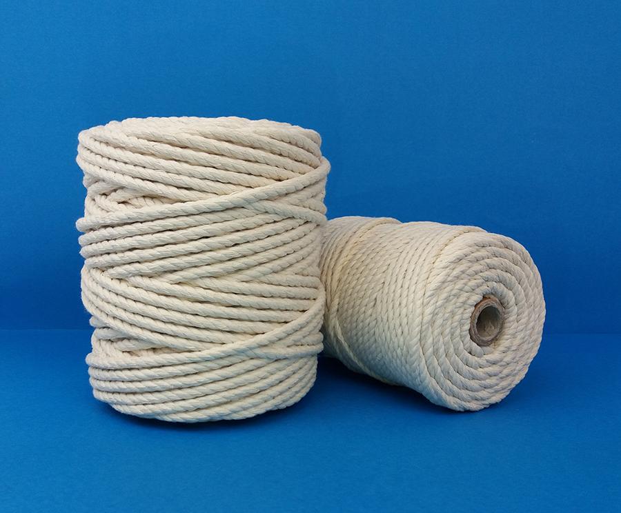 Cuerda de algod/ón 8/hebras 10 mm 10 m